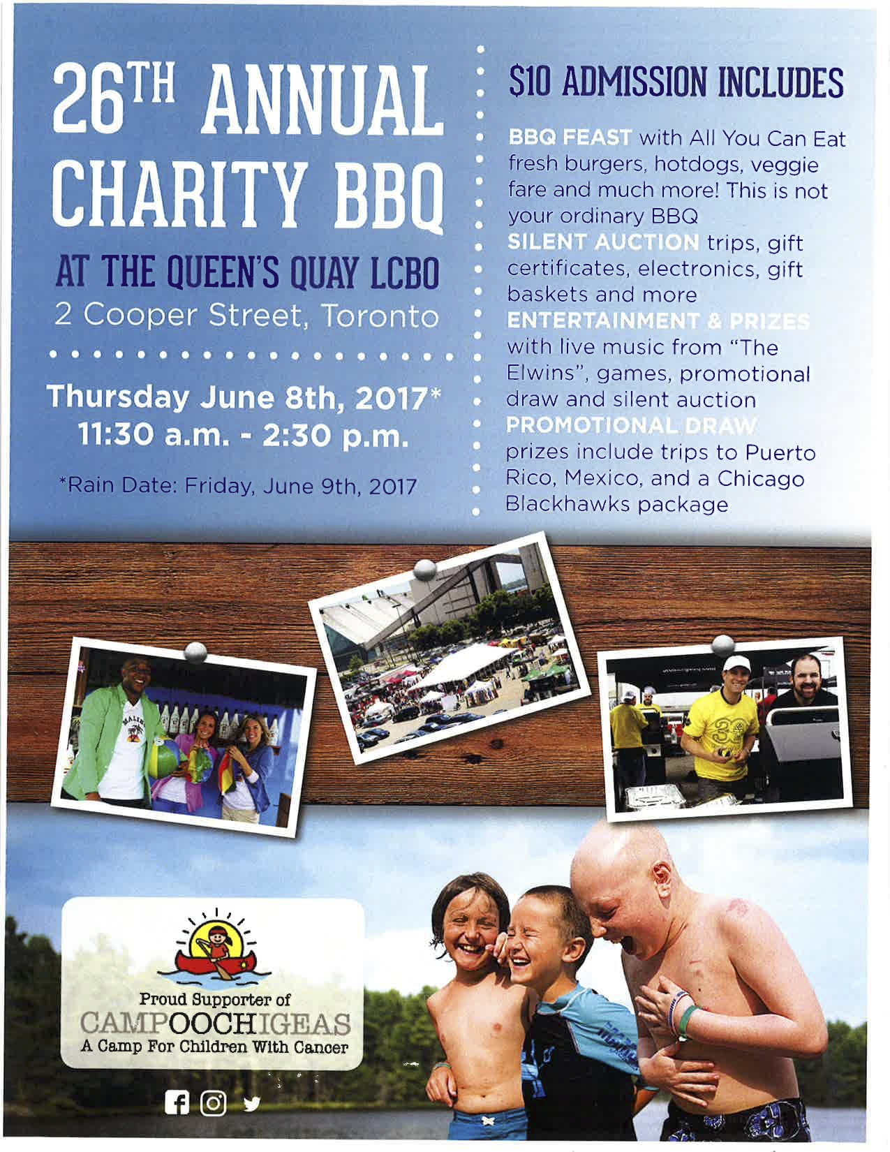 Camp Ooch 26th Annual Charity BBQ at the Queens Quay LCBO Promotion