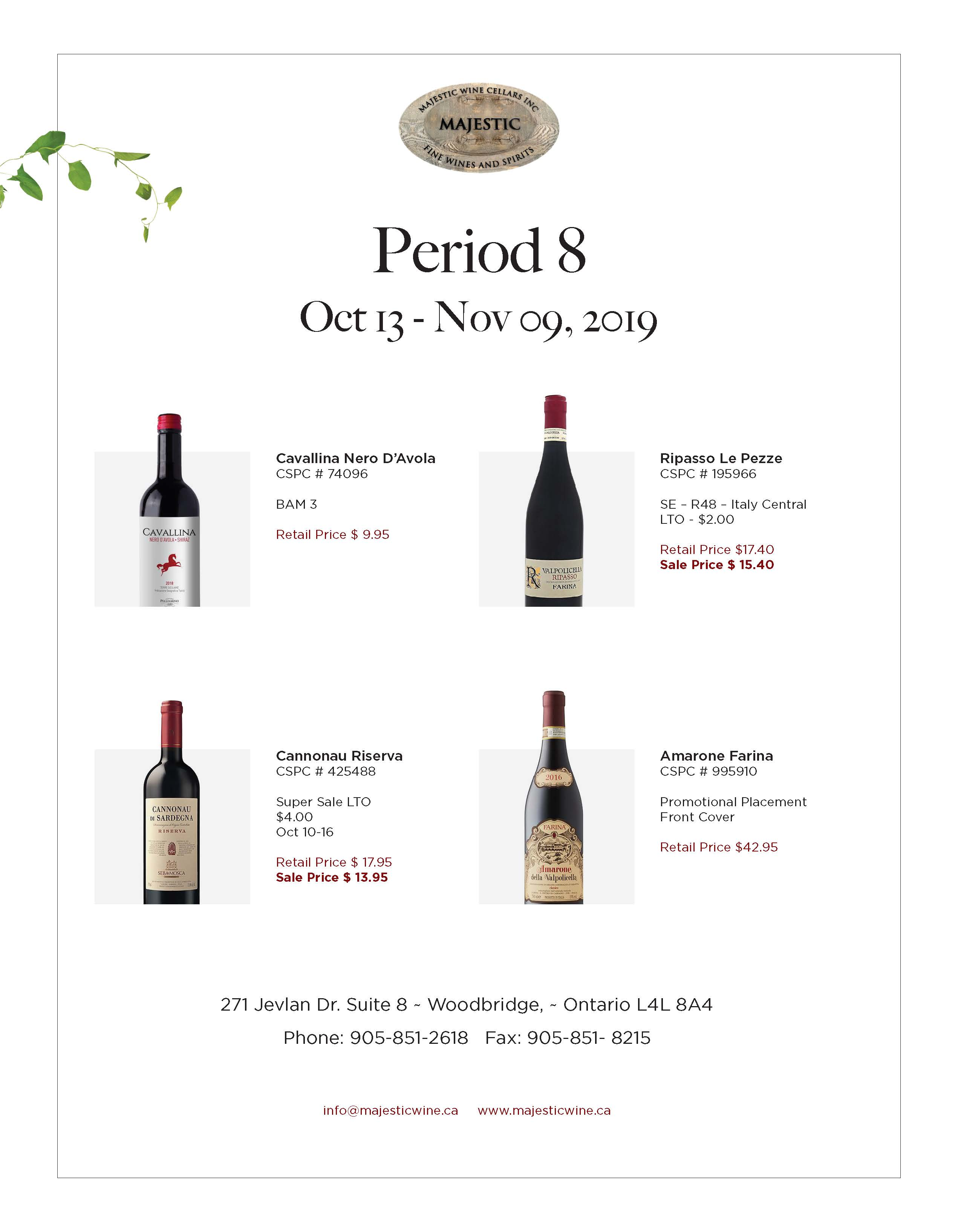 Period 8 | October 13th - November 9th Promotion