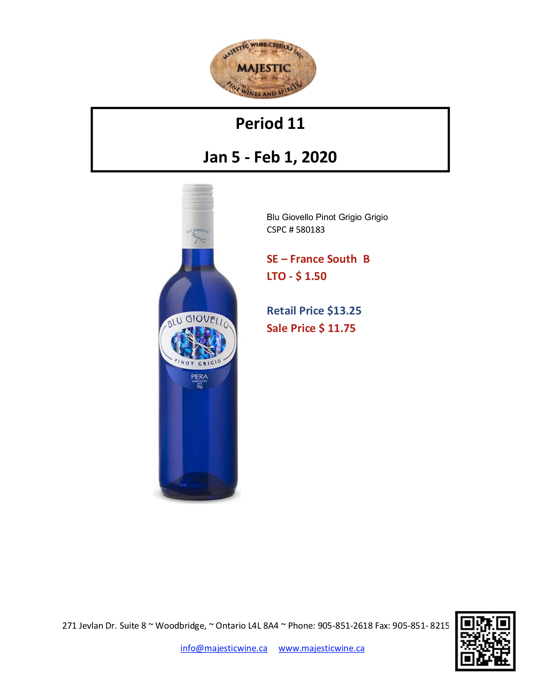 Period 11   January 5th - February 4th Promotion