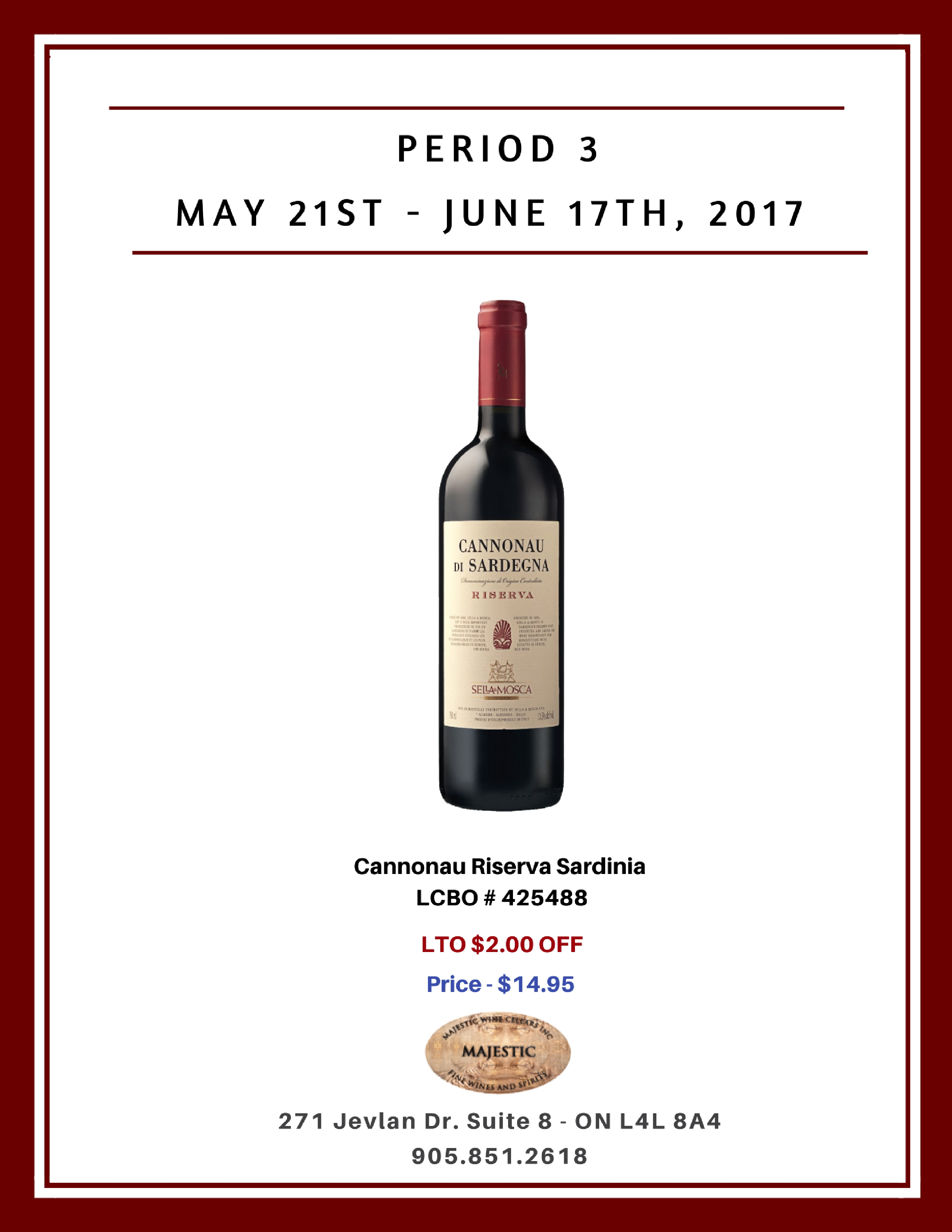 Period 3: May 21st - June 17th, 2017 Promotion