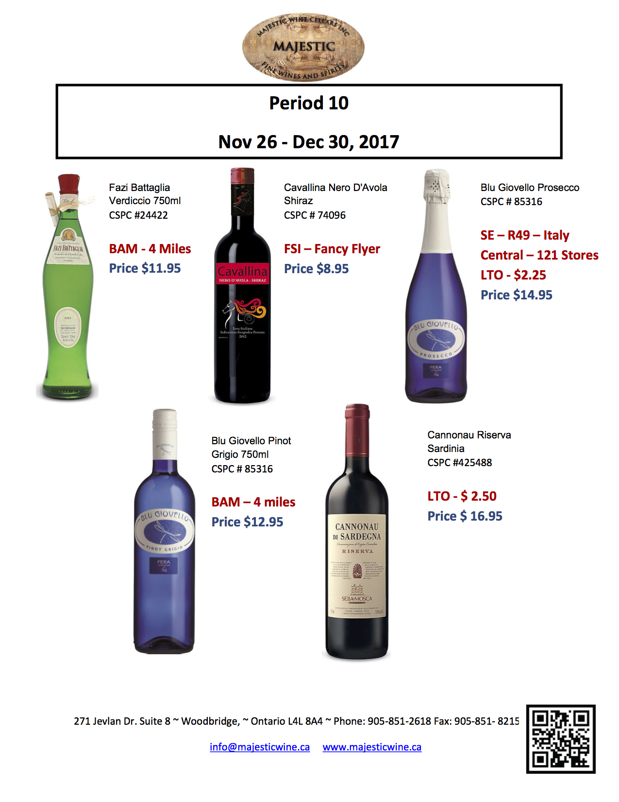 Period 10 - November 26th - December 30th, 2017 Promotion