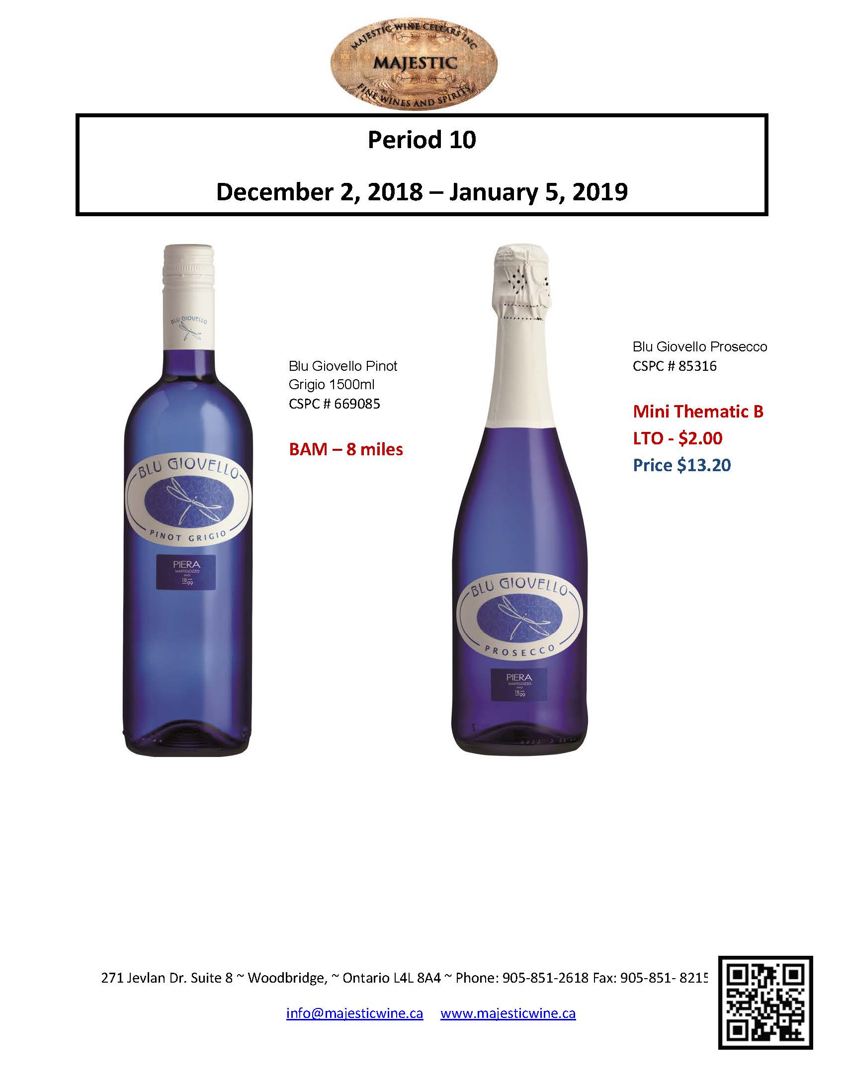 Period 10 - December 2nd - January 5th Promotion