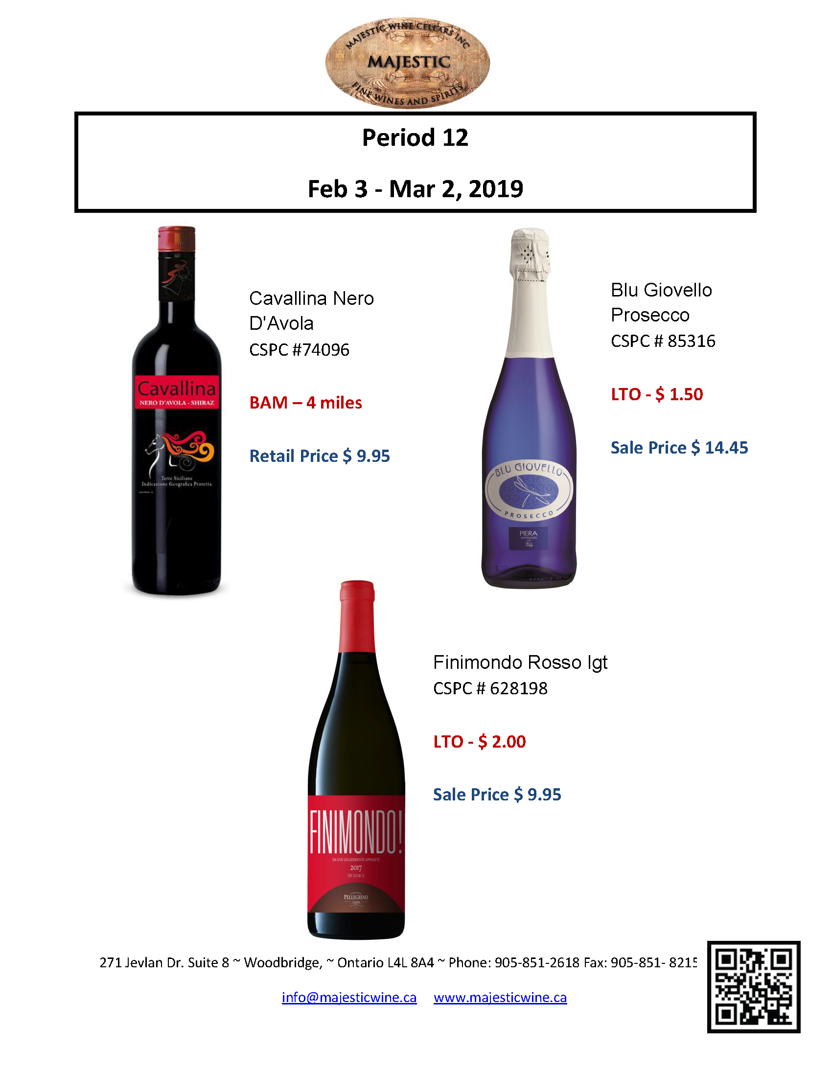 Period 12: February 3rd - March 3rd Promotion