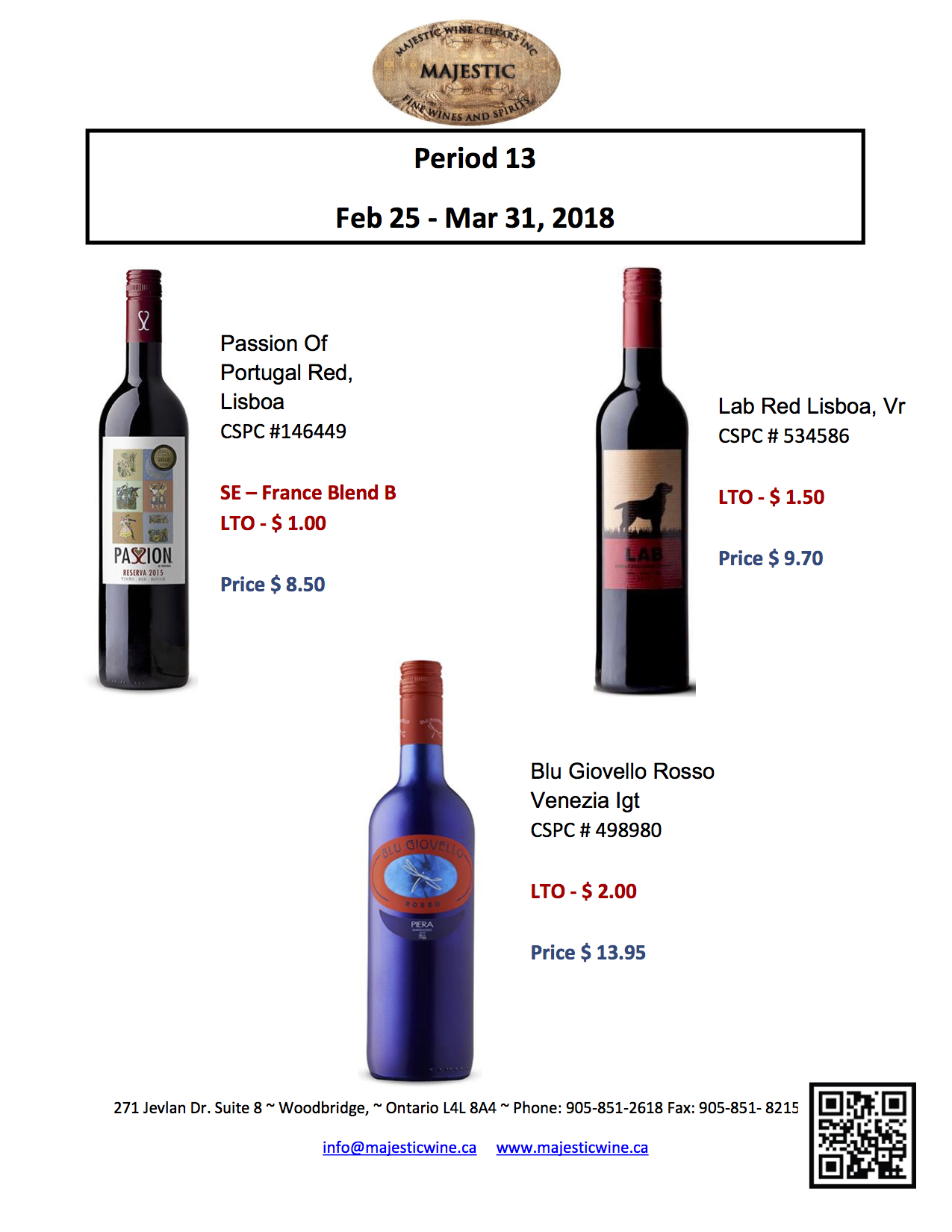 Period 13: February 25th - March 31st, 2018 Promotion
