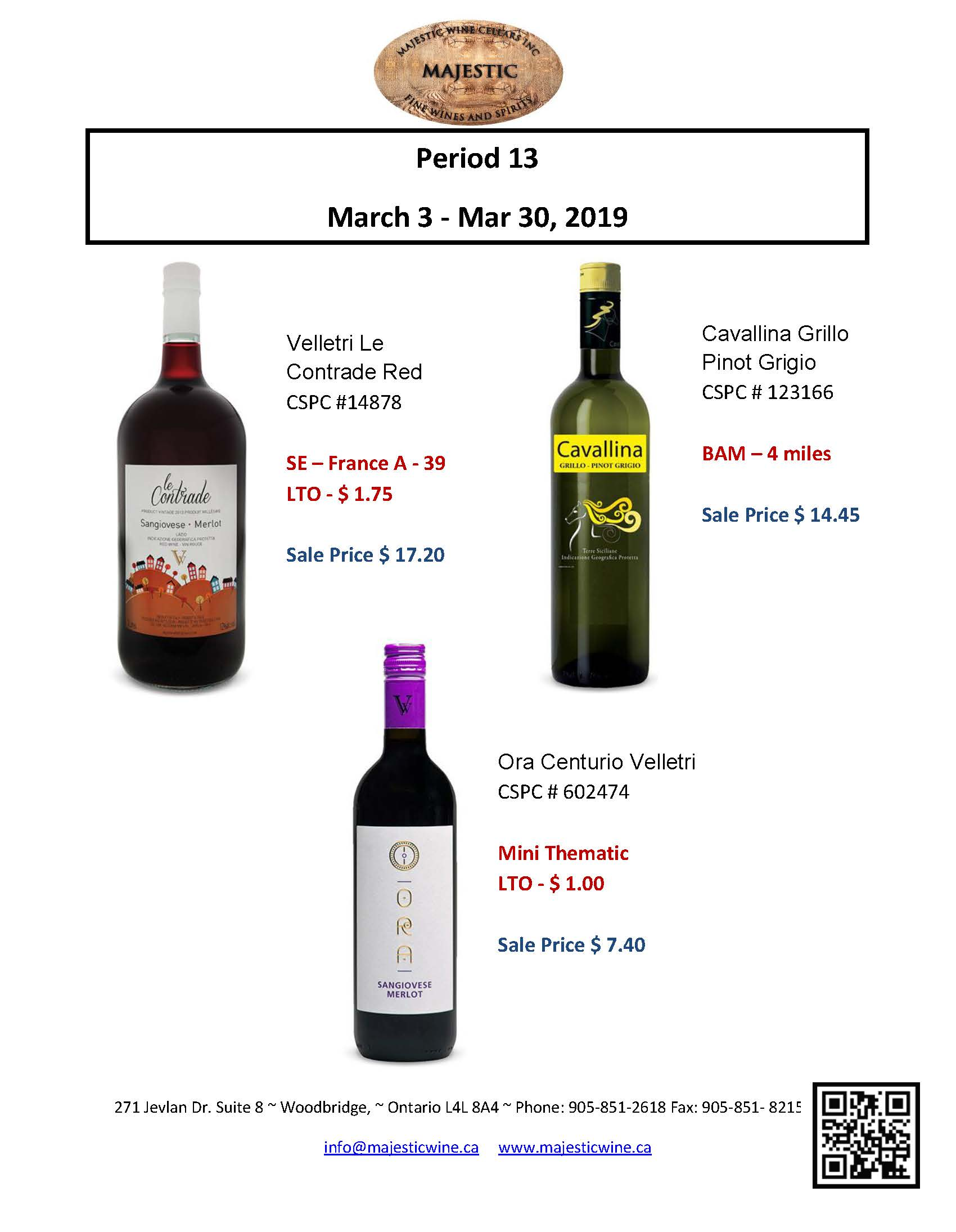 Period 13: March 3rd - 30th Promotion