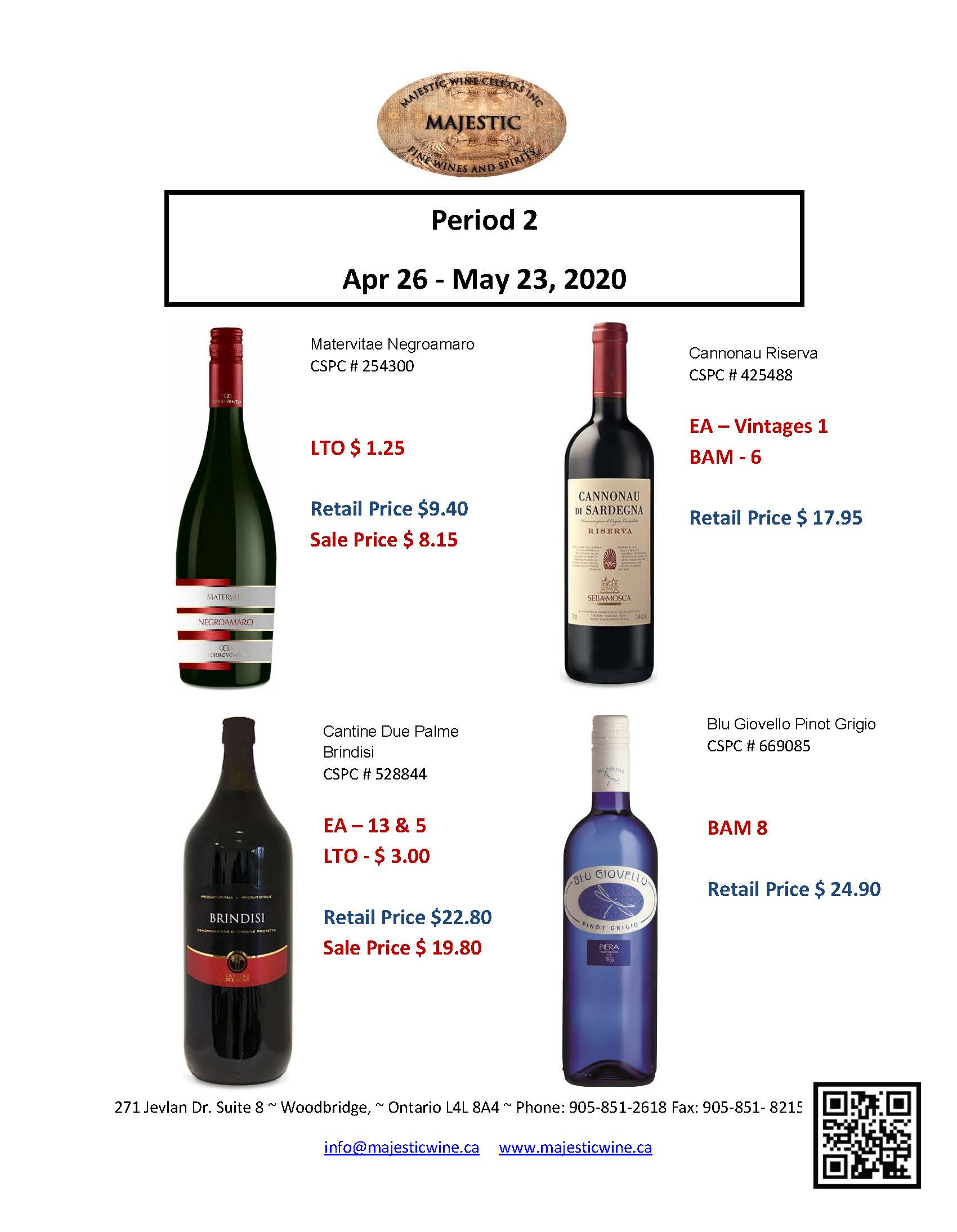 Period 2 | April 26th - May 23rd Promotion