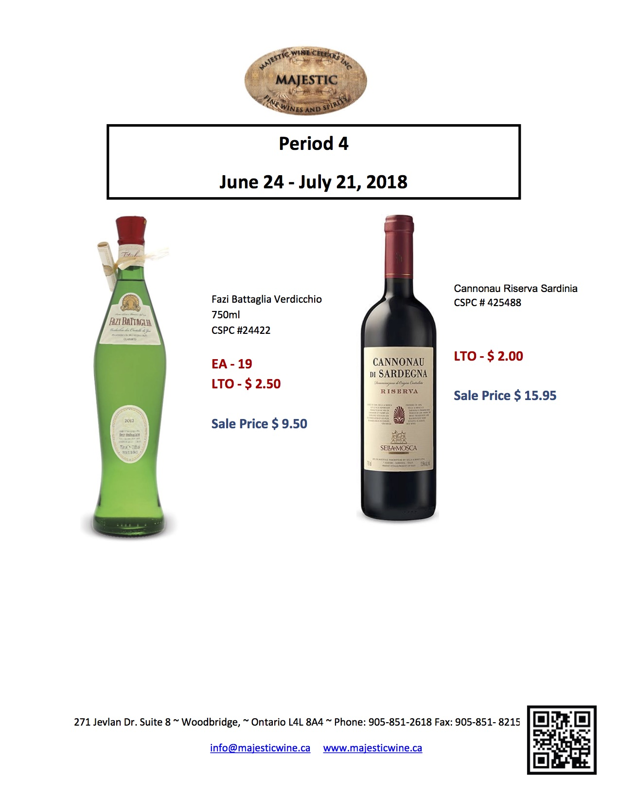 Period 4: June 24 - July 21, 2018 Promotion
