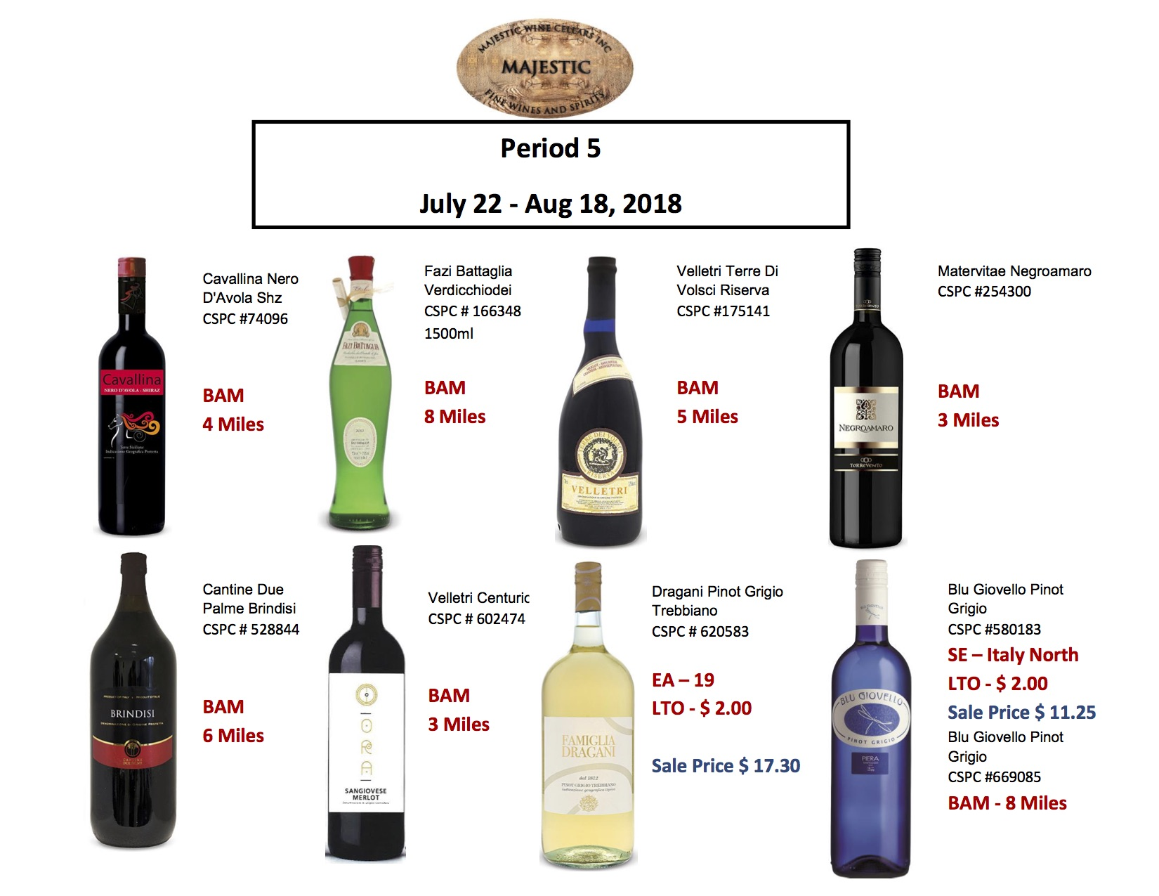 Period 5: July 22 - Aug 18, 2018 Promotion