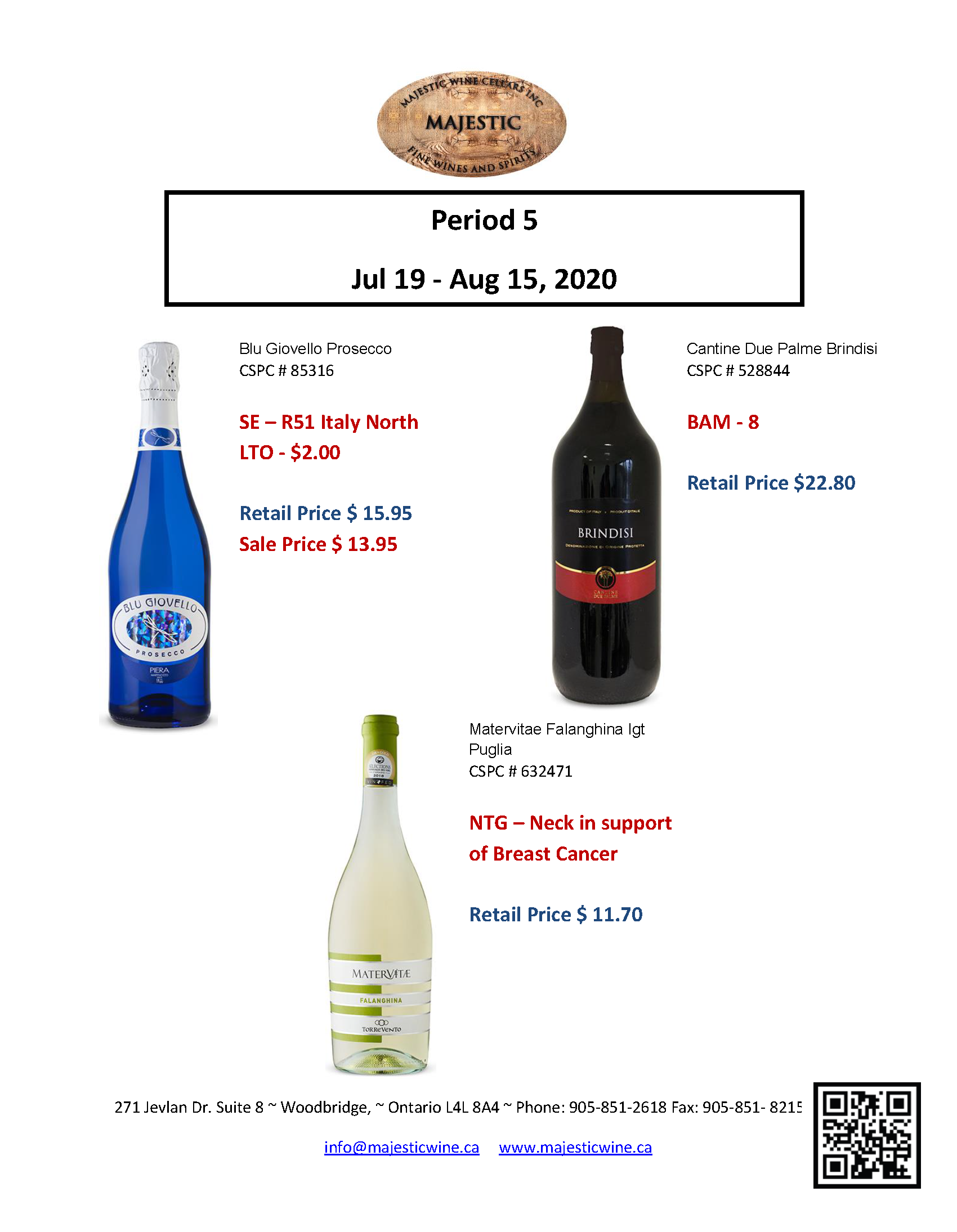 Period 5 | July 19th - August 15th Promotion
