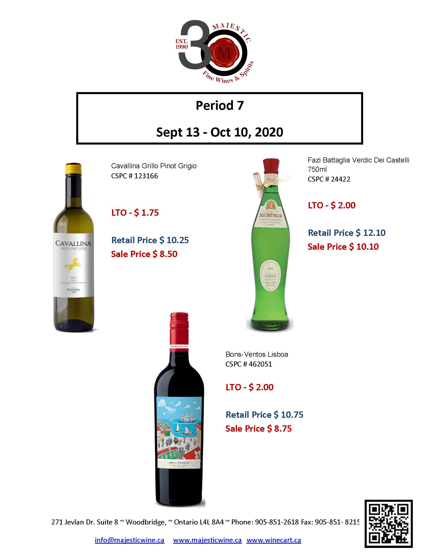 Period 7 - September 13th - October 10th Promotion