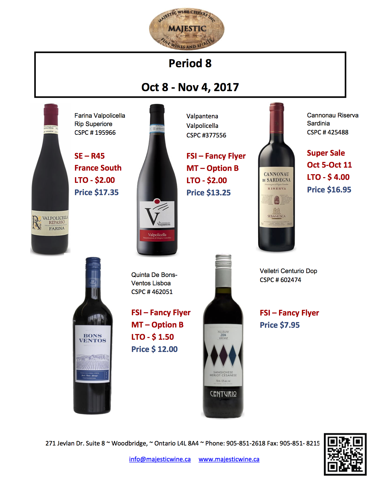Period 8: October 8th - November 4th Promotion