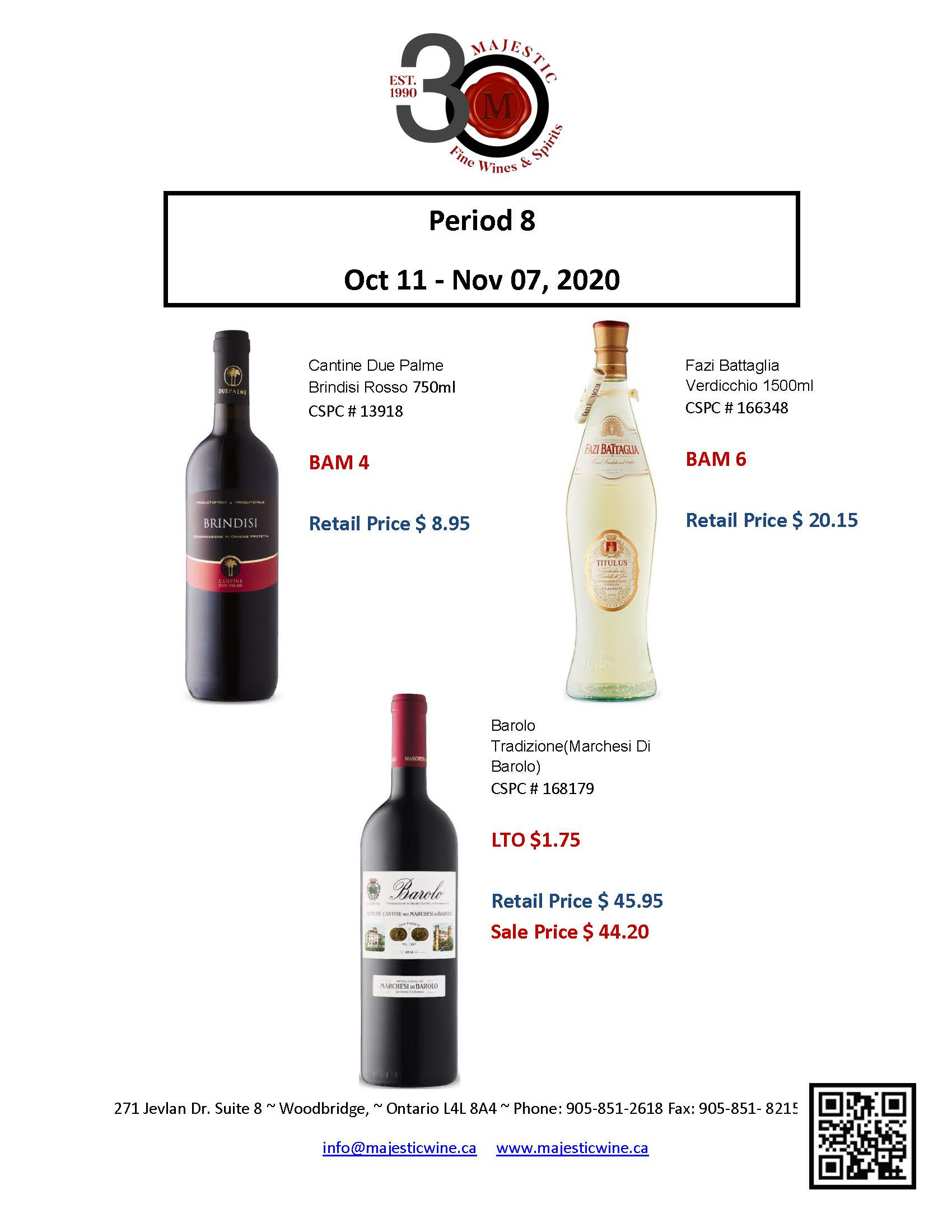 Period 8 - October 11th - November 7th Promotion