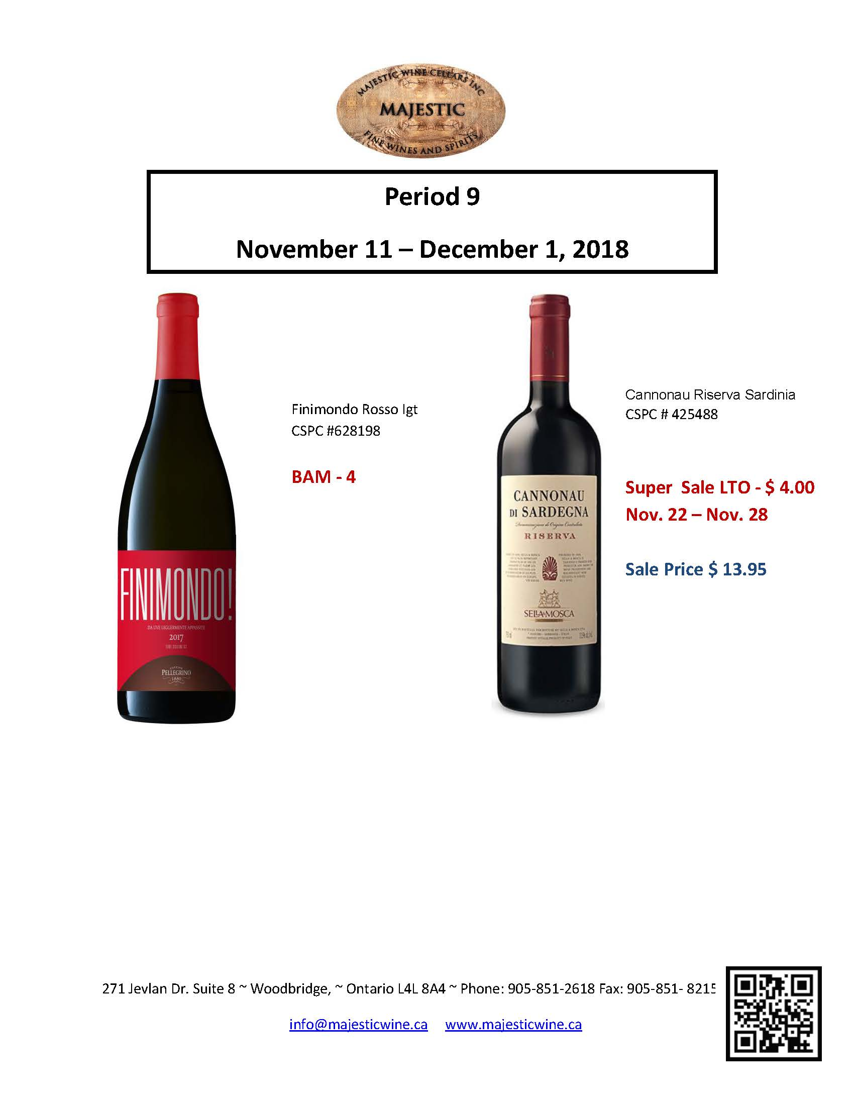 Period 9 - November 11th - December 1st Promotion