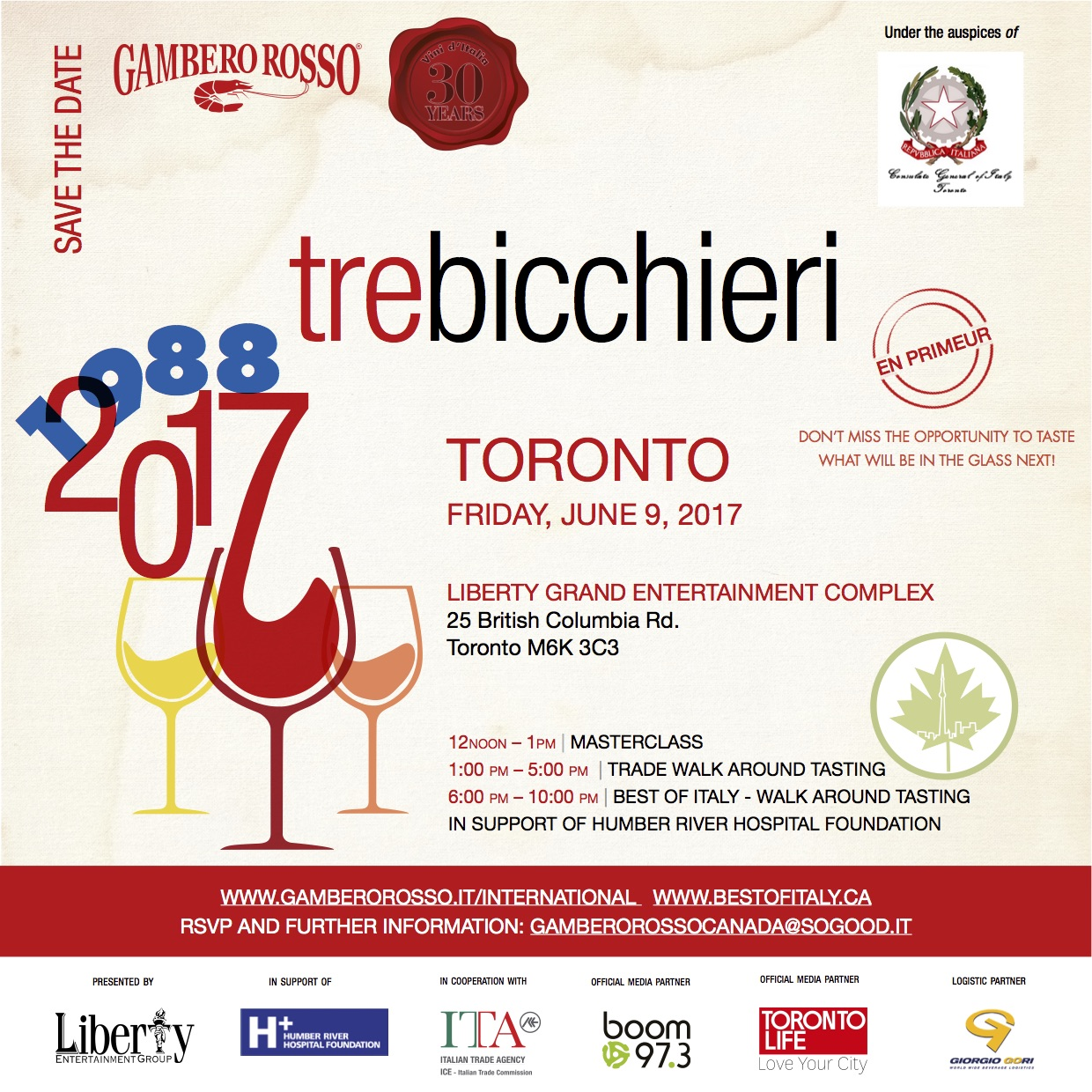 Gambero Rosso event June 9th @ Liberty Promotion
