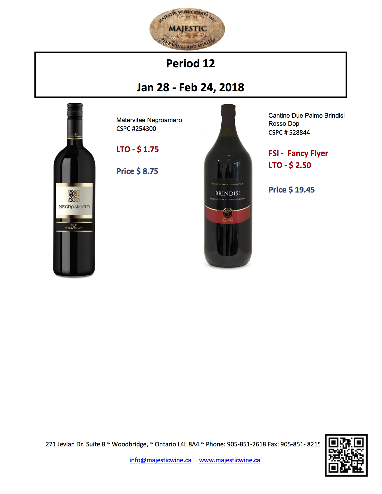 Period 12: January 28th - February 24th, 2018 Promotion