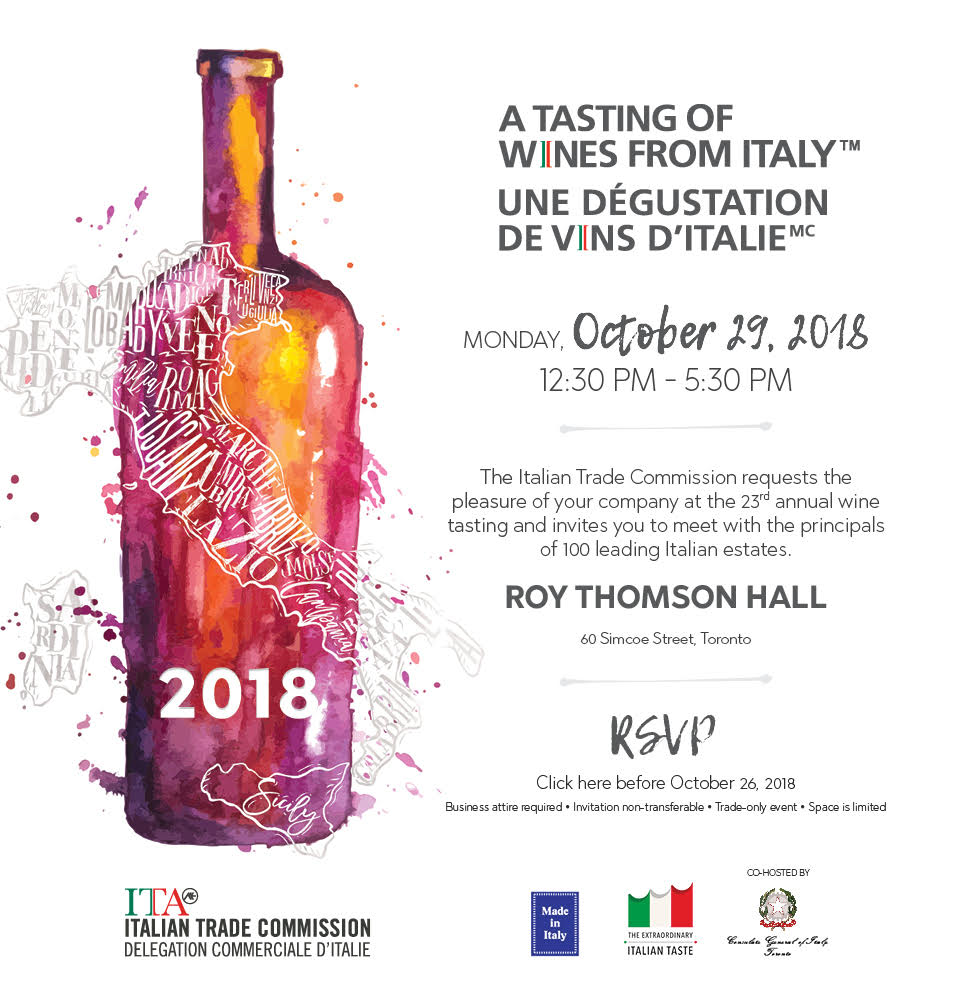 A Tasting of Wine from Italy to Toronto Promotion